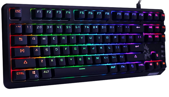 Fuhlen SM681R RGB Mechanical Black Switch 87 Black